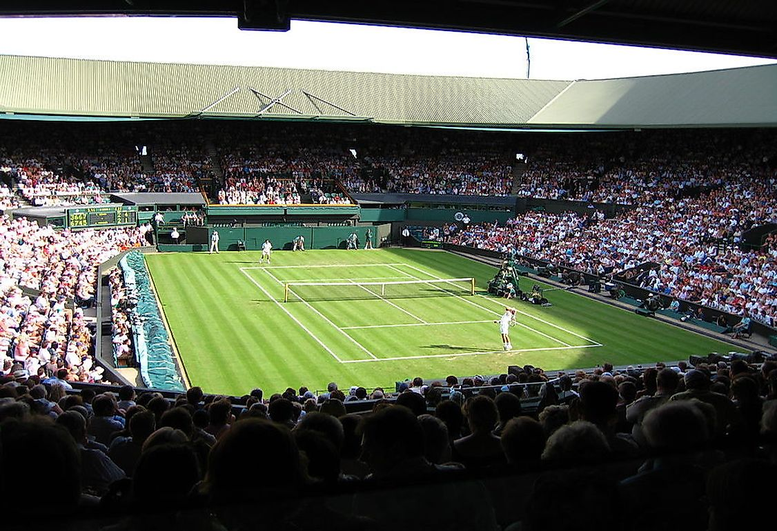 The Centre Court at Wimbledon.