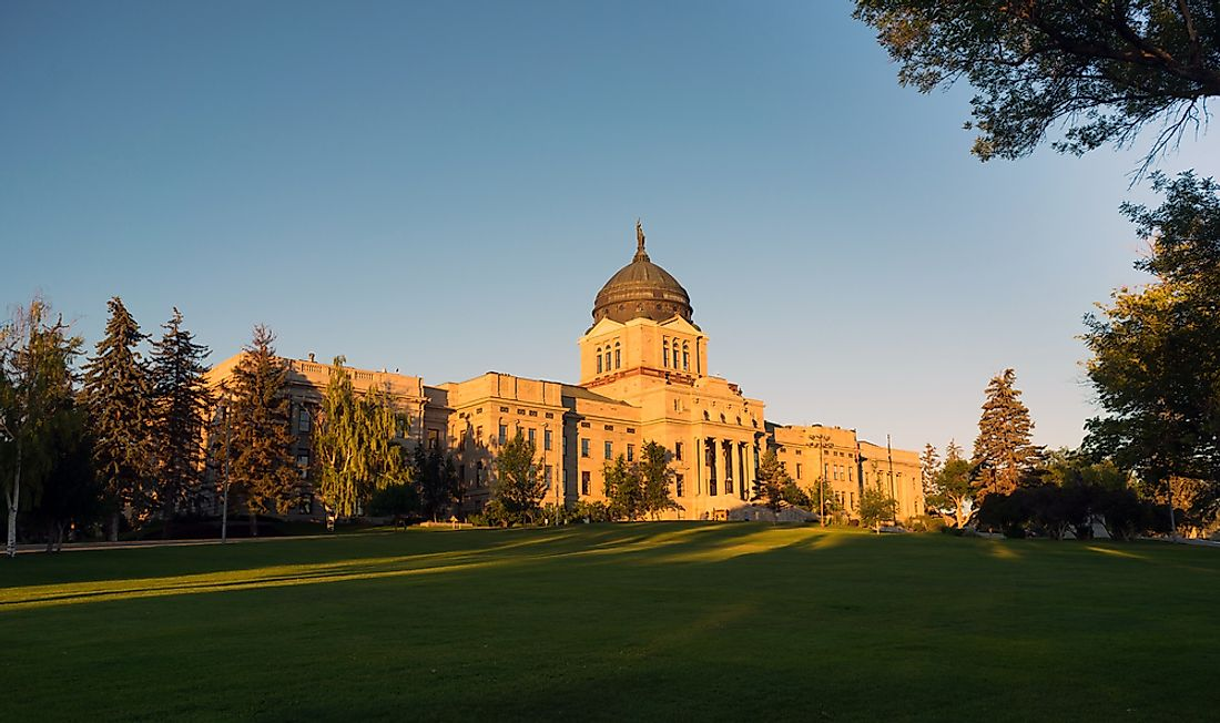 The state capital building in Helena, Montana.