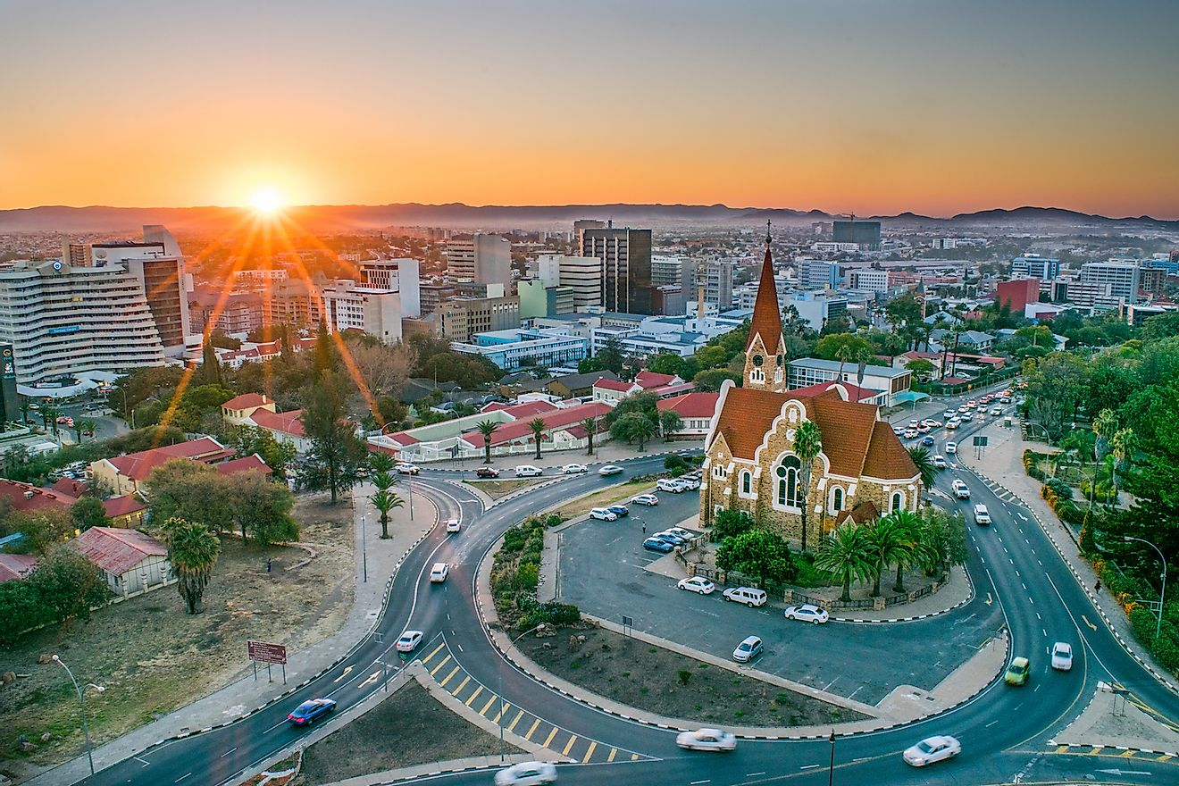 Aerial View of Namibia's Capital Windhoek. Image credit: Nate Hovee/Shutterstock.com