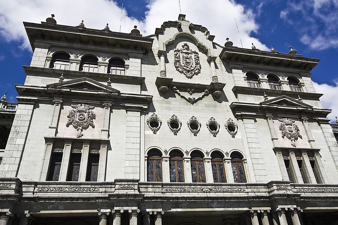 The National Palace of Culture is one of the most significant buildings in Guatemala City, the capital of Guatemala.