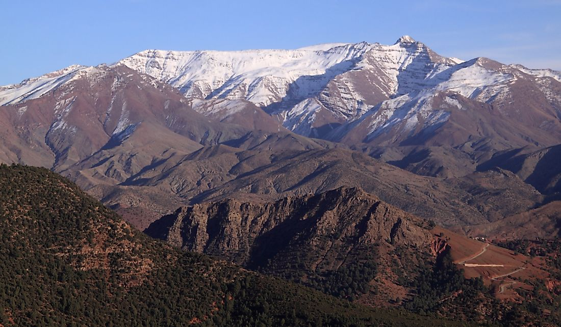 The Atlas mountain range in Morocco.