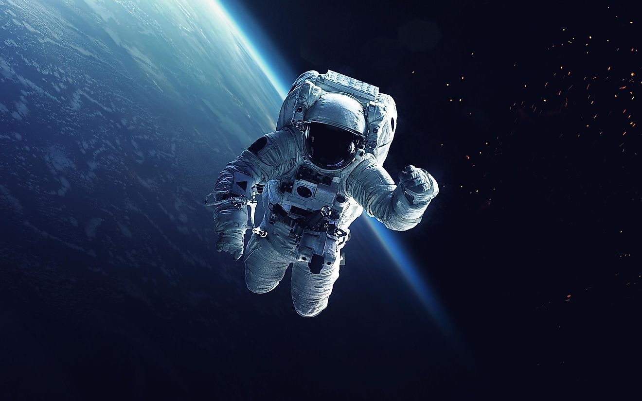 A depiction of an astronaut in space.