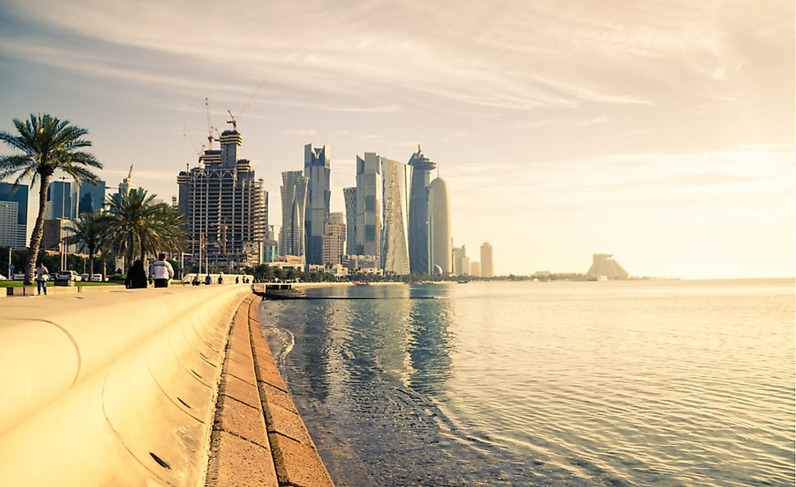 The high rises of Doha.