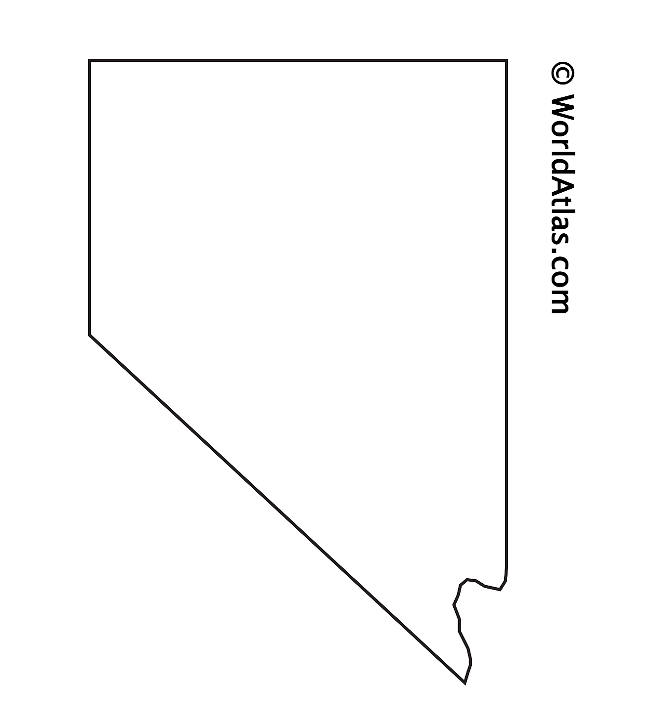 Blank Outline Map of Nevada
