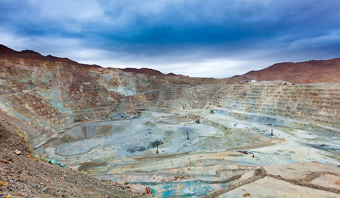 Open pit copper mine in Northern Chile.