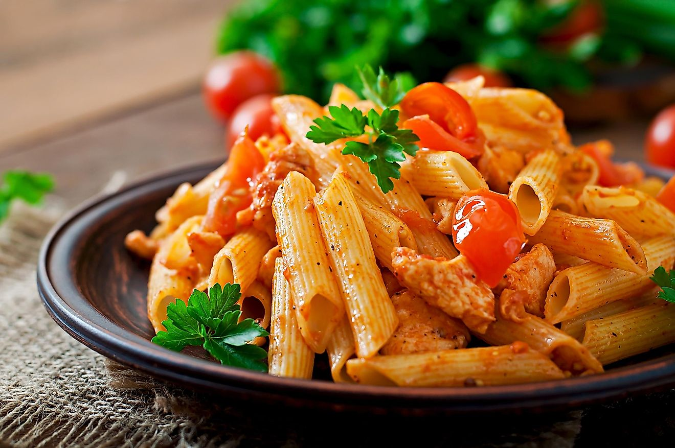 Gluten is found in pasta.