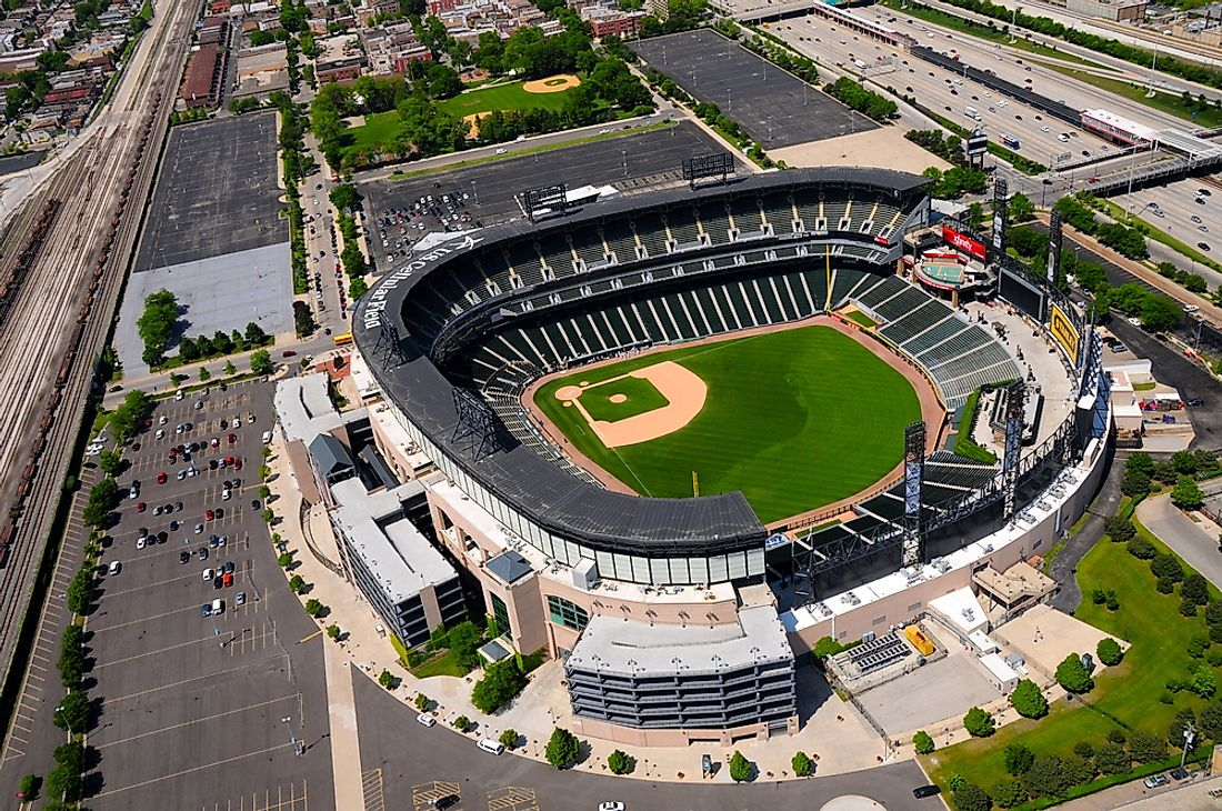 The U.S. Cellular Field, formerly Comiskey Park, home of the Chicago White Sox. Editorial credit: Richard Cavalleri / Shutterstock.com