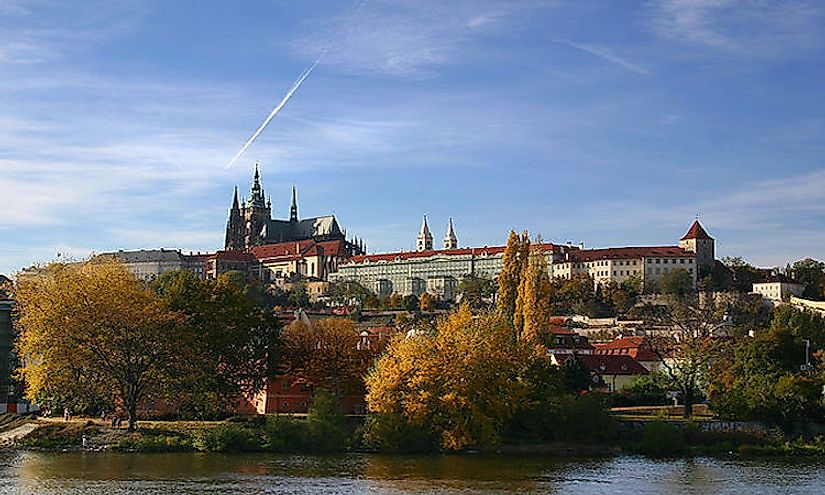 Prague castle in Prague, the capital of the Czech Republc is the official residence of the President of the country.