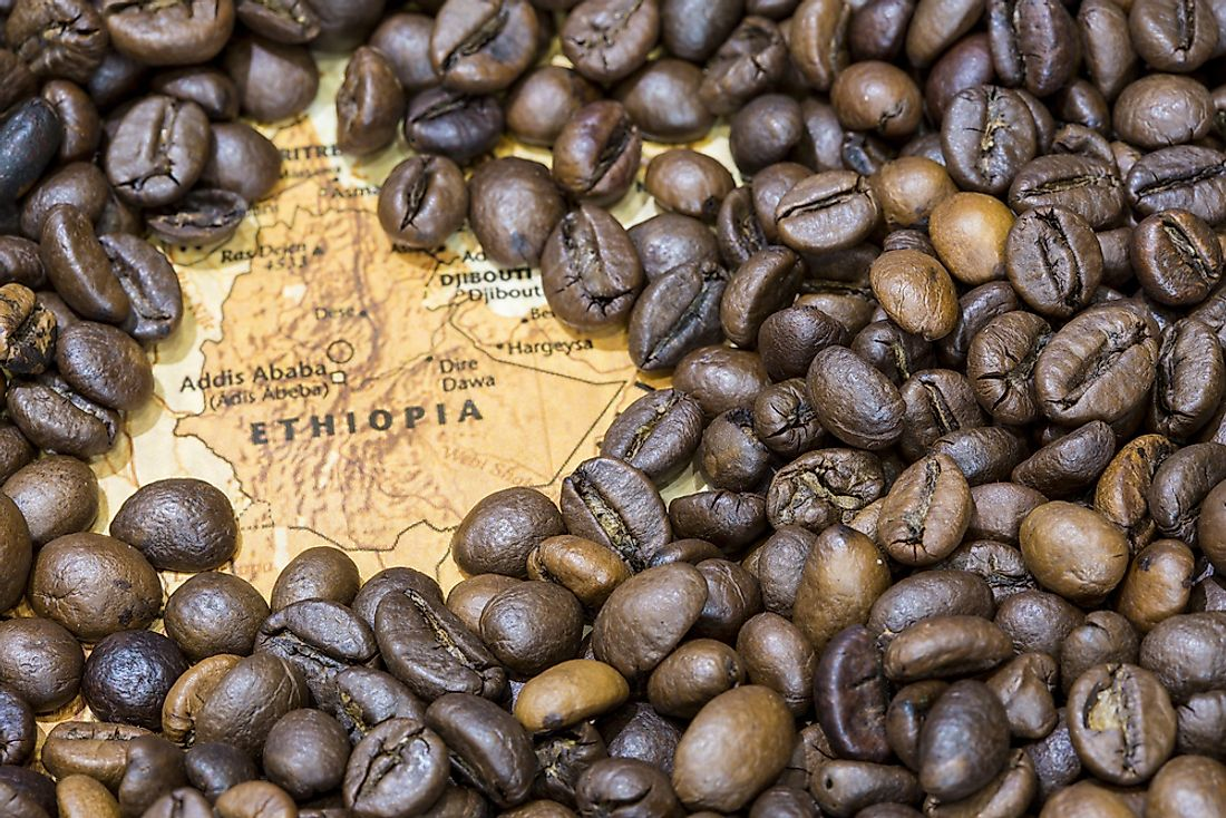 Coffee is the largest export of Ethiopia.