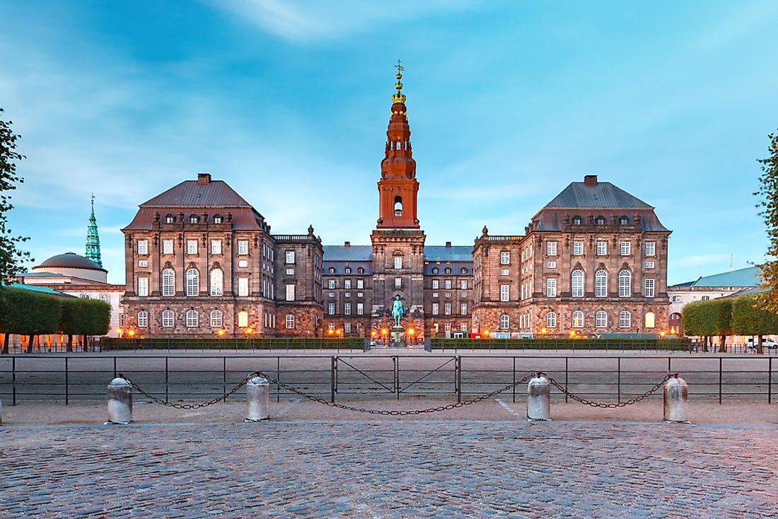 Christiansborg, the palace and government of Denmark in Copenhagen.