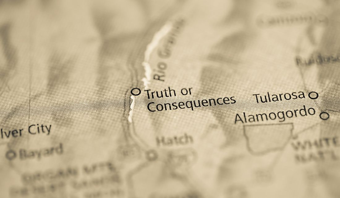 Truth or Consequences is located on the Rio Grande.
