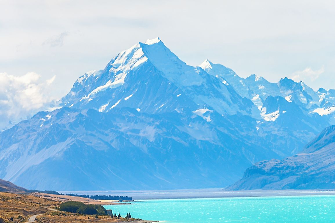 Mount Cook is the highest point in New Zealand.