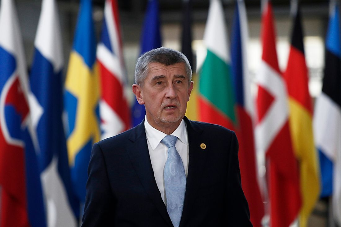 The prime minister of the Czech Republic, Andrej Babiš. Editorial credit: Alexandros Michailidis / Shutterstock.com.