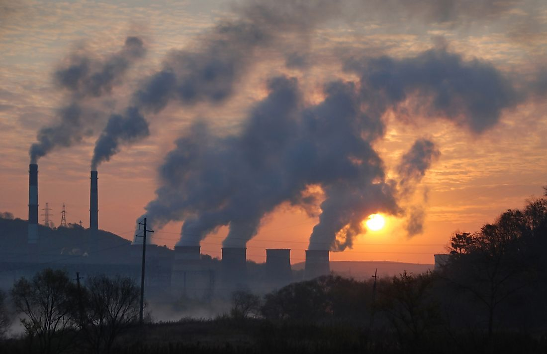 Industrialization has contributed to various types of pollution.