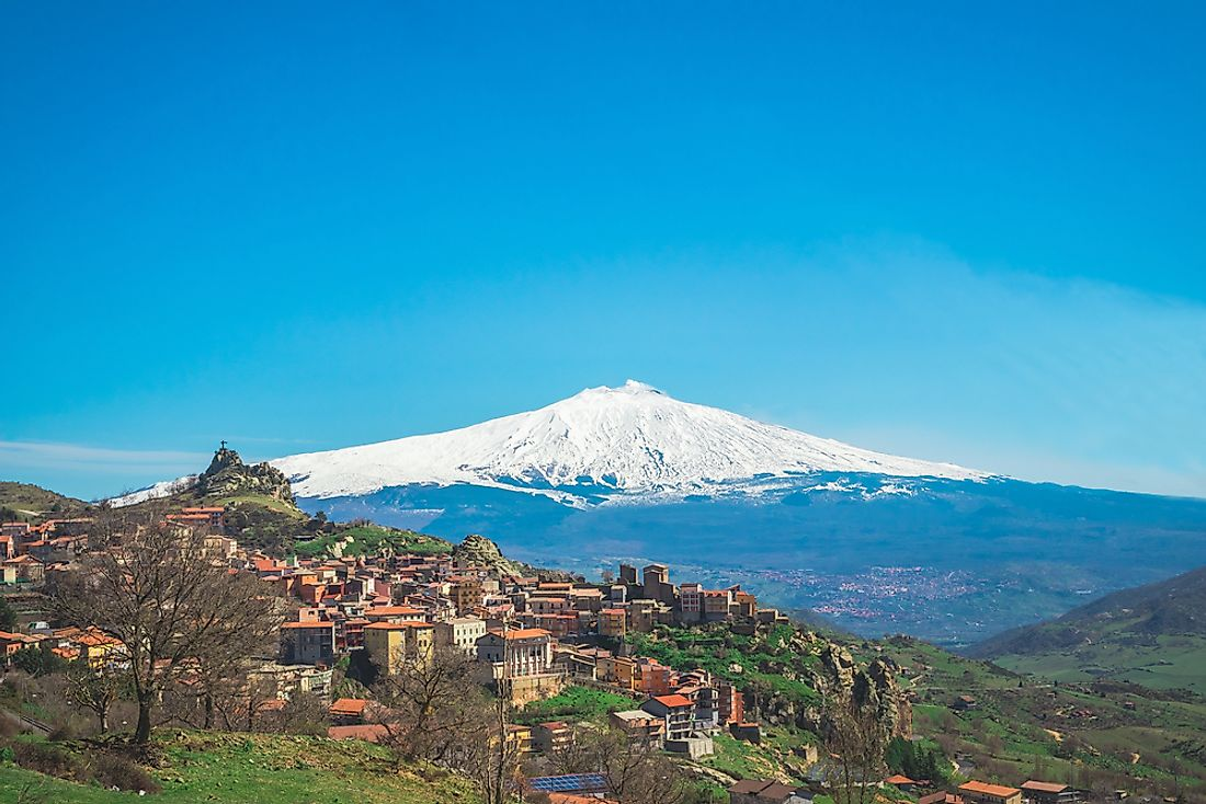 A view of Mount Etna.