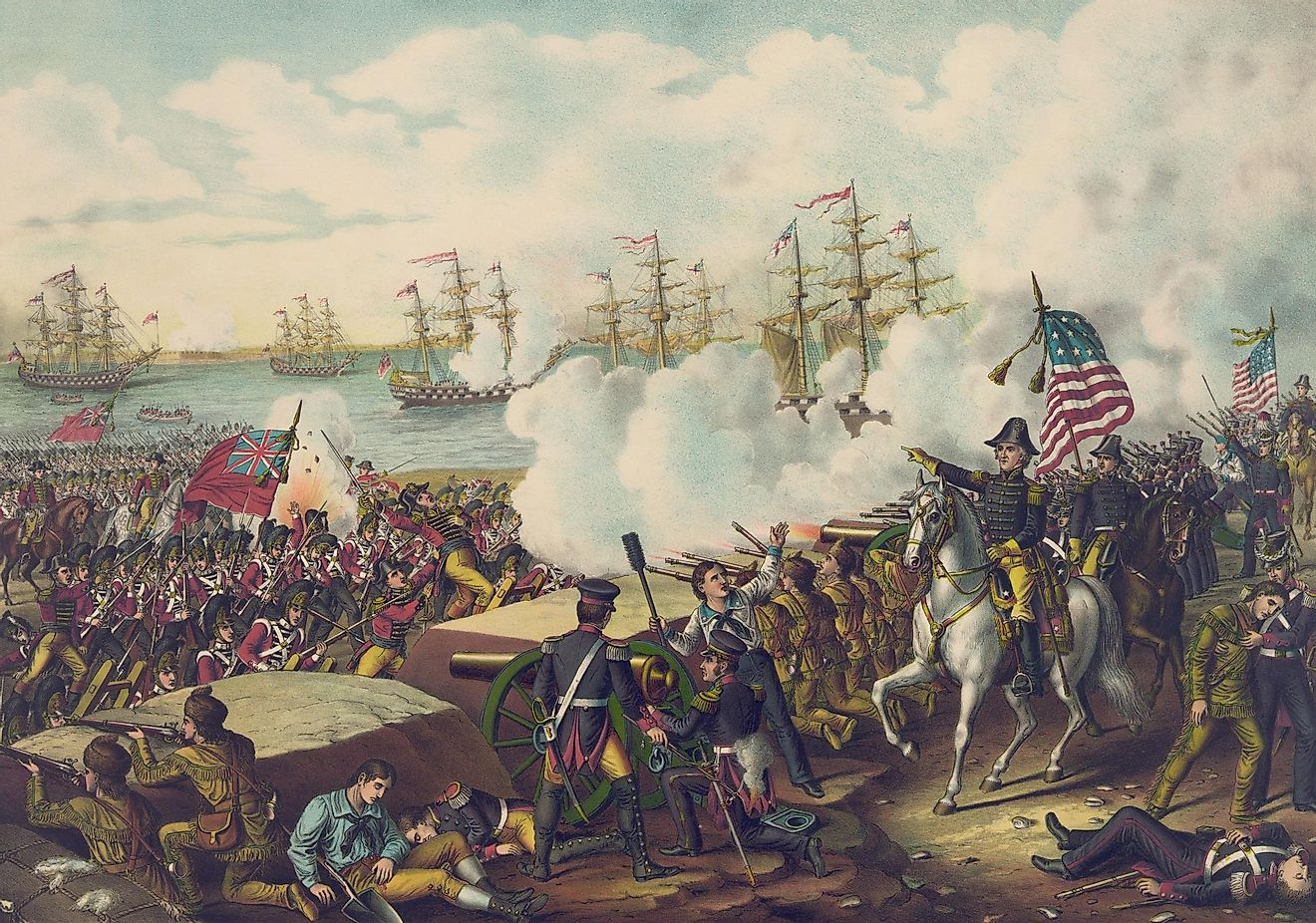 The War of 1812 happened when the two opposing sides, the United States on one, and the United Kingdom on the other, could no longer agree about their views on US independence. Image credit: Everett Historical / Shutterstock.com