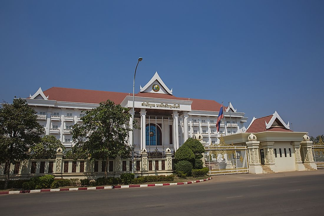 The government's office in Laos.