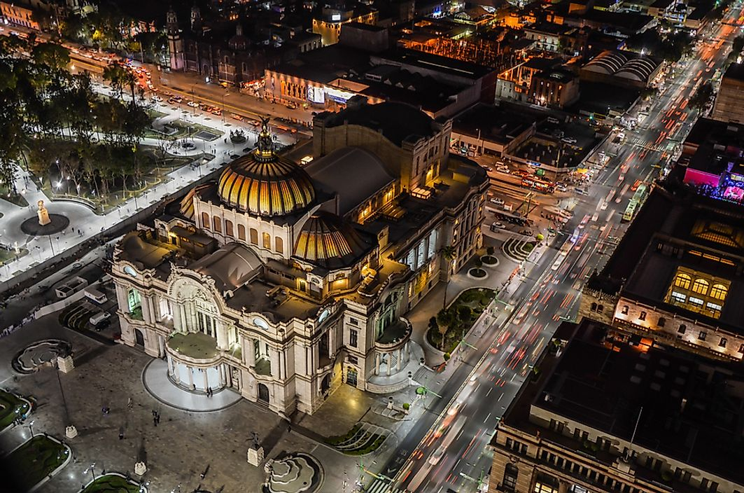 Palace of Fine Arts, Mexico City, Mexico.