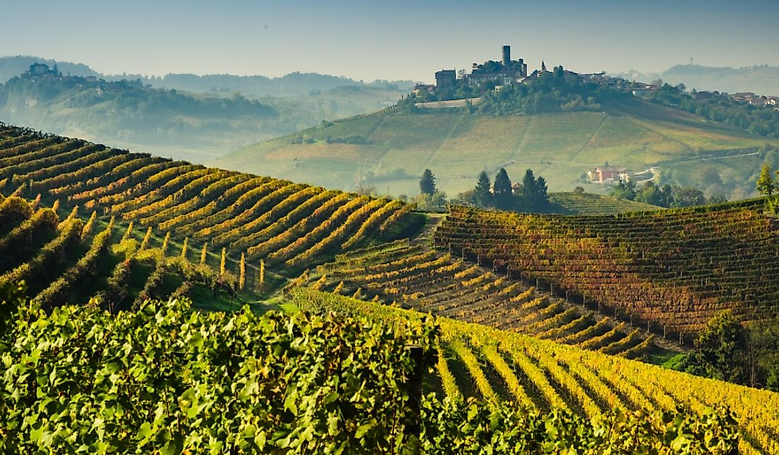 Italy leads the world in wine production. Editorial credit: Giorgio1978 / Shutterstock.com
