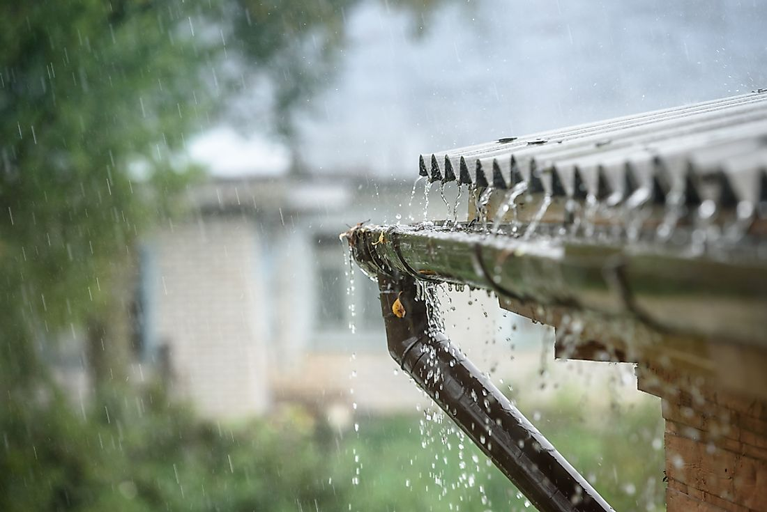 Rainwater is an example of a water source.