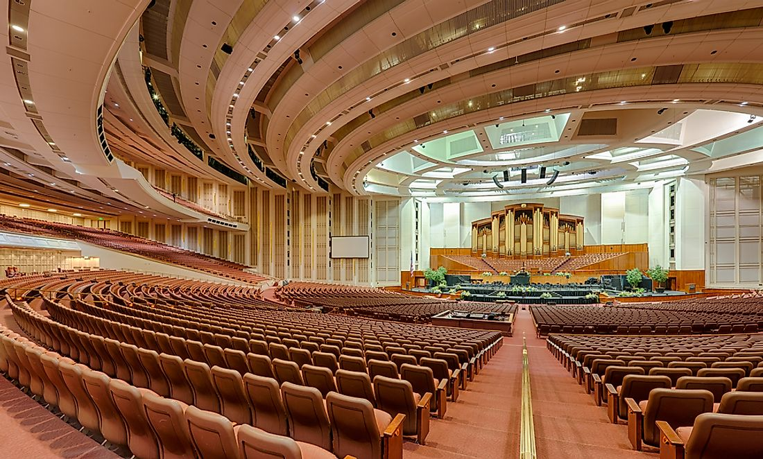 The LDS Conference Center.  Editorial credit: Nagel Photography / Shutterstock.com