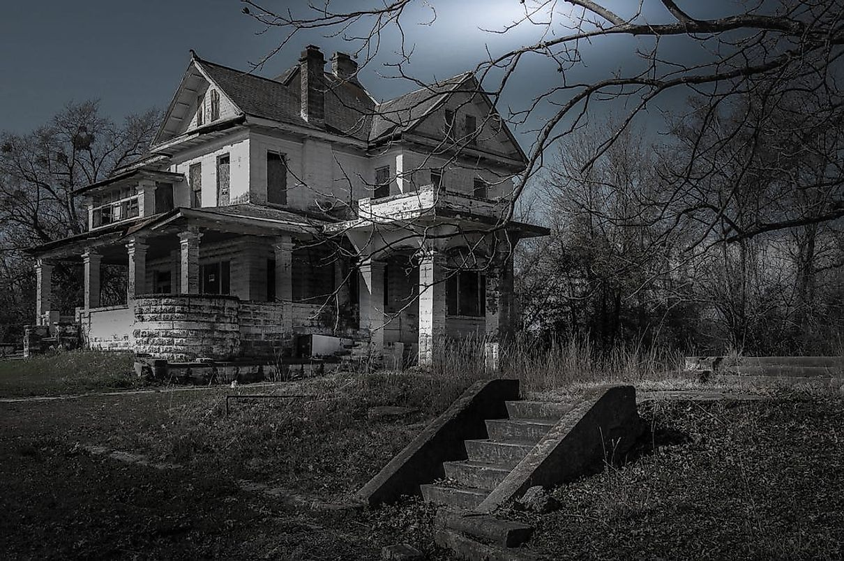 Many of the world's most haunted houses are open to visit. Editorial Credit: Seph Lawless