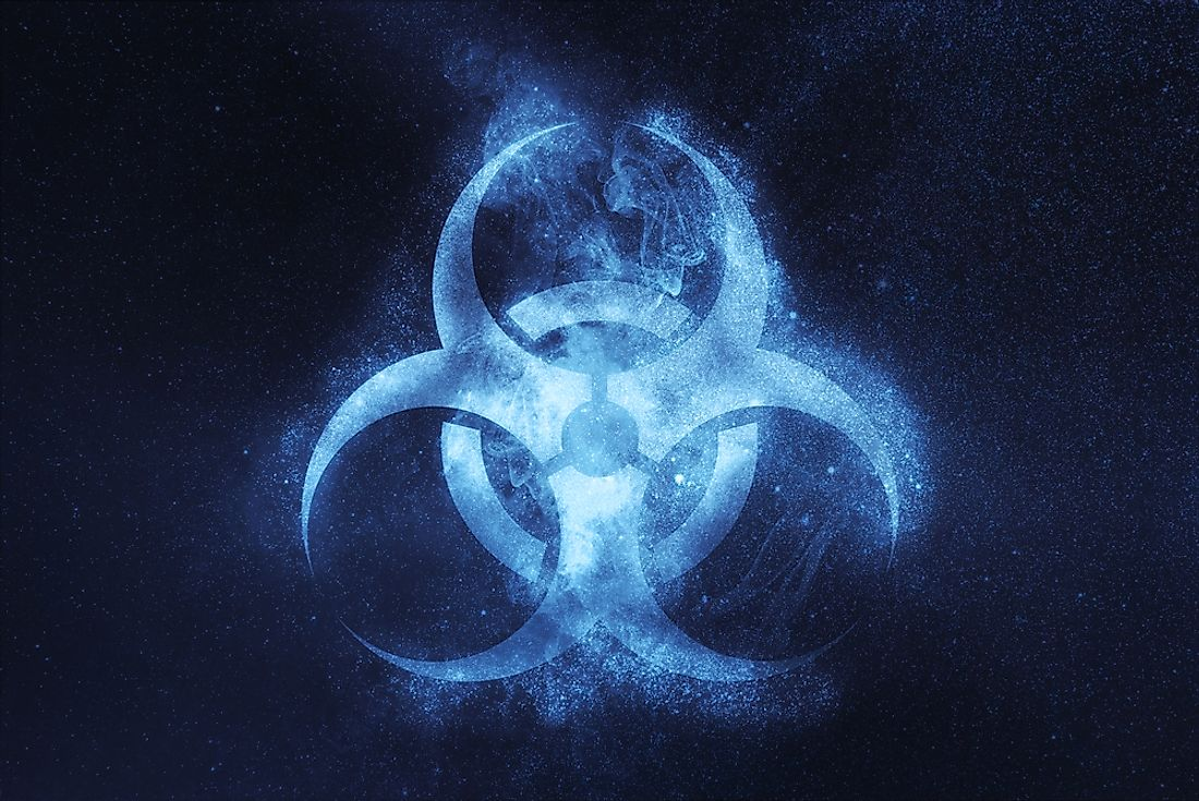 The biohazard symbol.