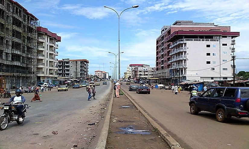 Central Conakry in July 2013.