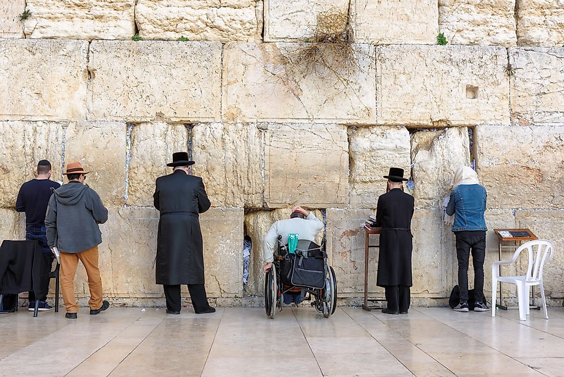 The Western Wall in Jerusalem, Israel, is the holiest site in the Jewish religion.