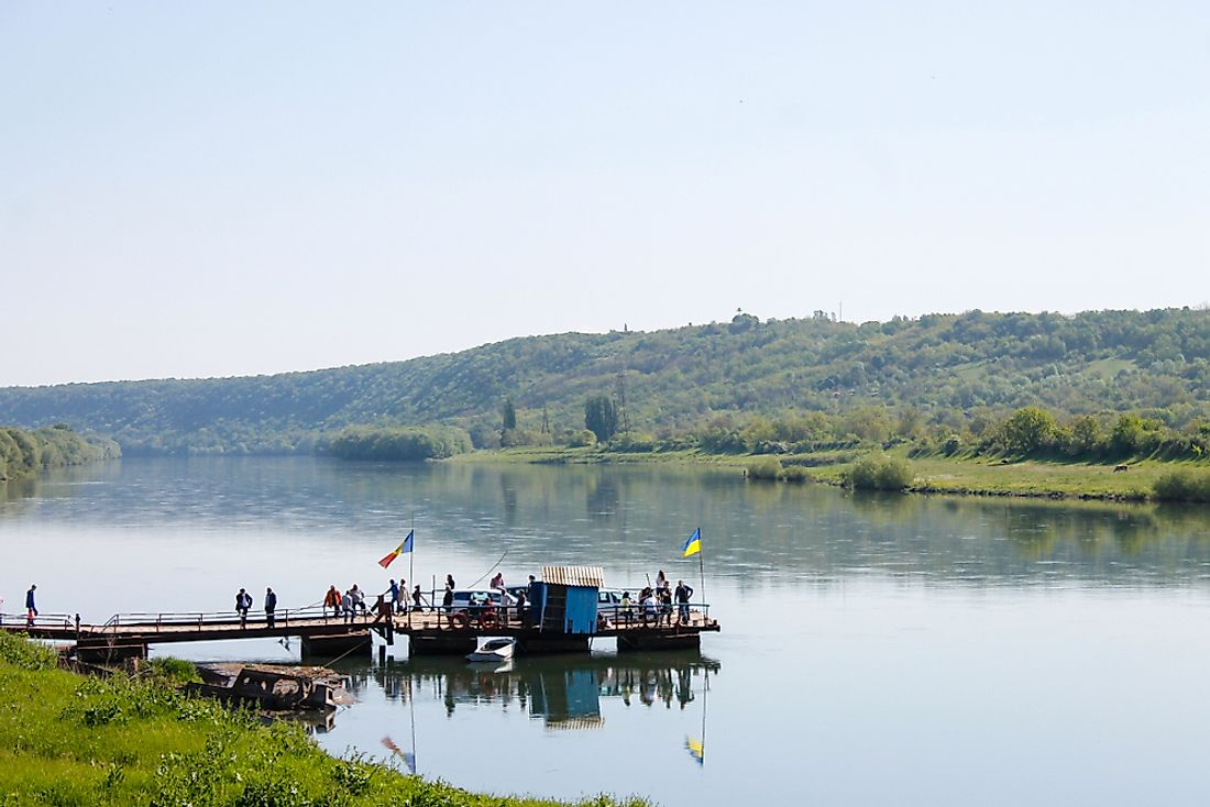 The River Dniester defines much of the Ukraine-Moldova border.