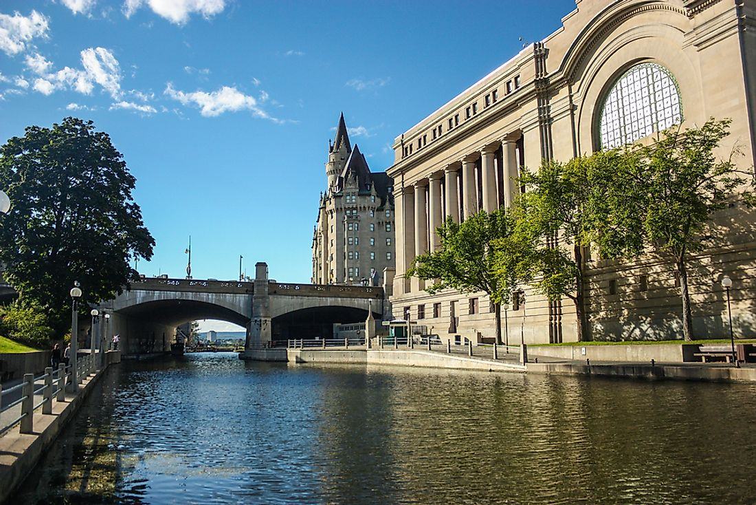 The Rideau Canal, one of the most famous canals in the world.