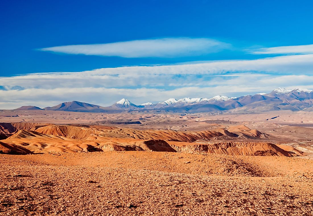 Paniri is part of a volcanic belt running through the Antofagasta region of Chile.