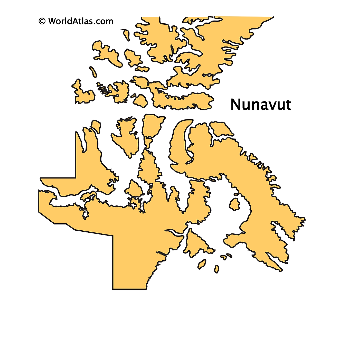 Outline Map of Nunavut