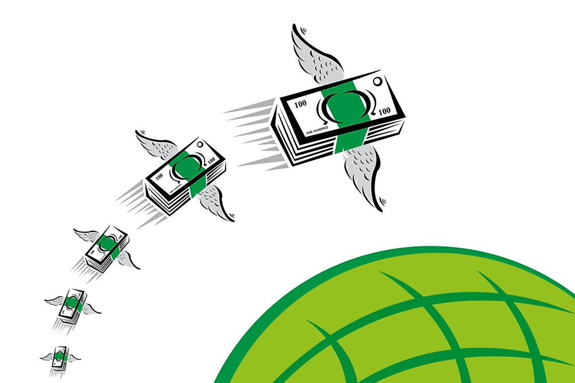 Remittance is the money a person working abroad sends to their home country.