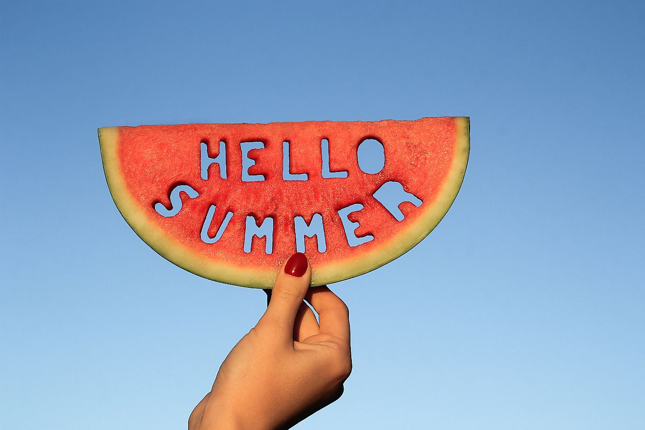 There is no specific day on which the summer starts but the period of onset of summer can be determined.