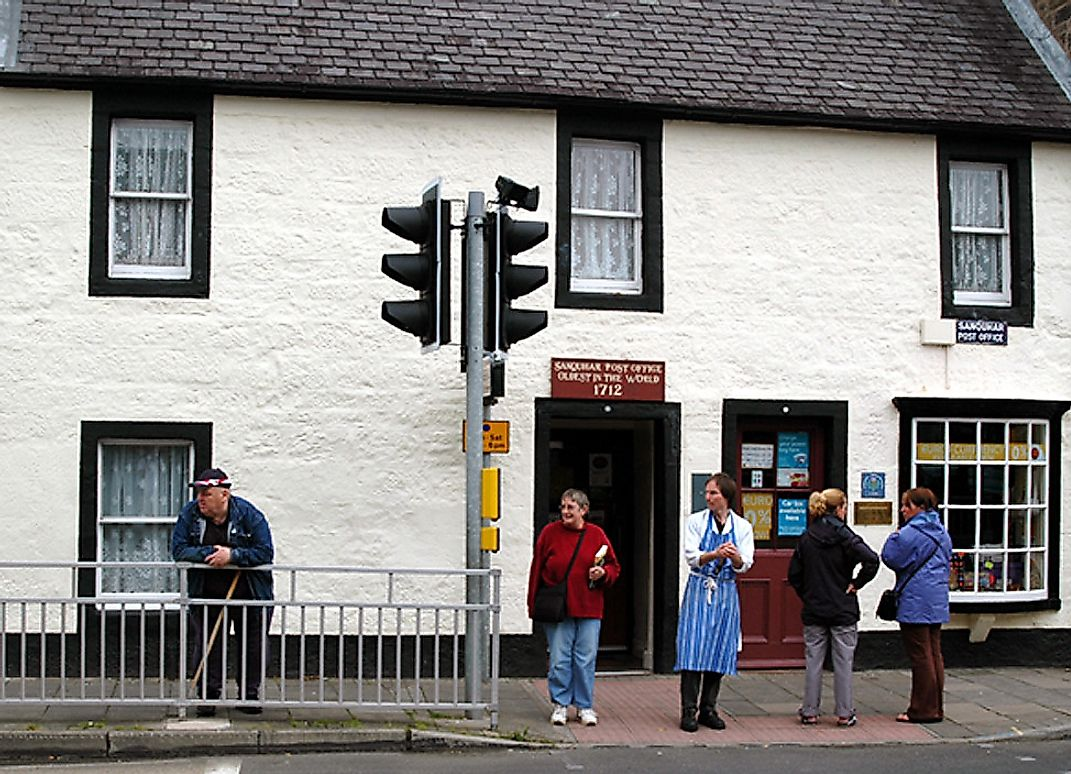The world's oldest post office in the United Kingdom.