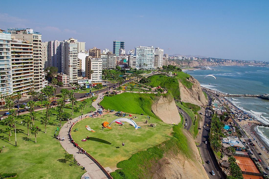 Lima, the largest city in Peru.