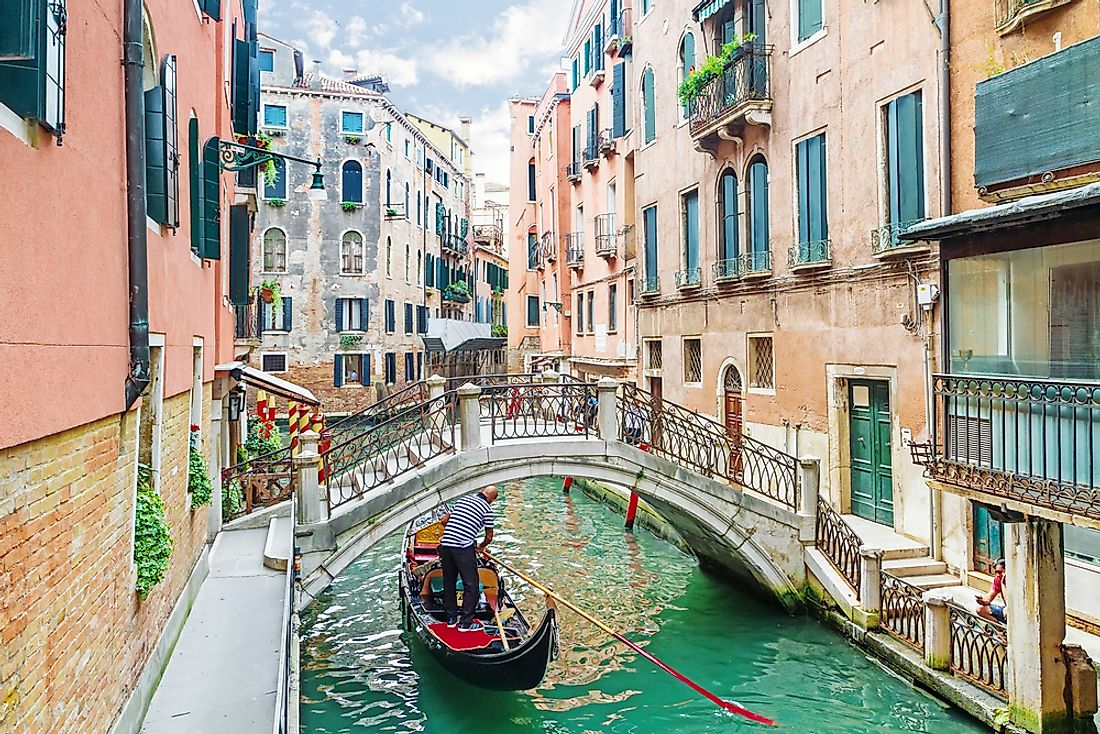 Venice is an example of a city that does not allow the use of cars.