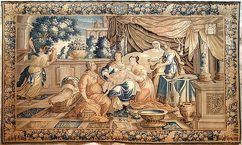 Aubusson tapestry​ of France.