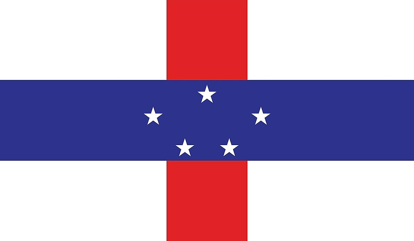 Flag of the former Netherlands Antilles.