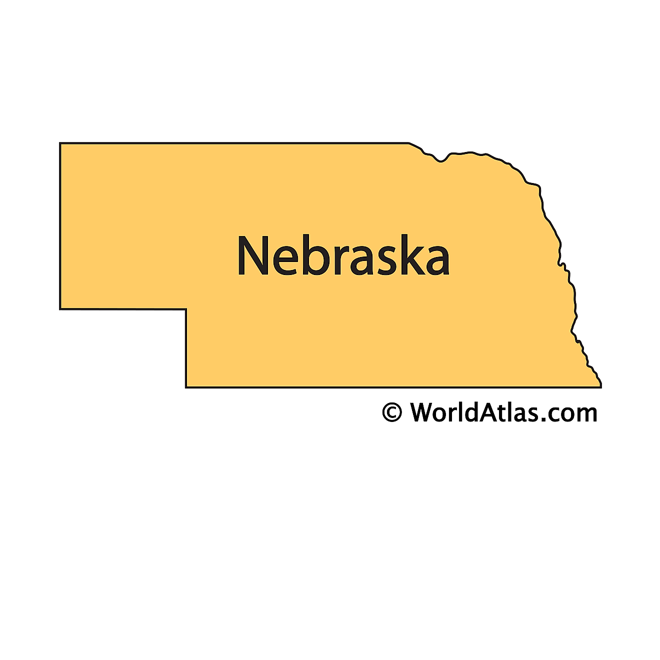 Outline Map of Nebraska