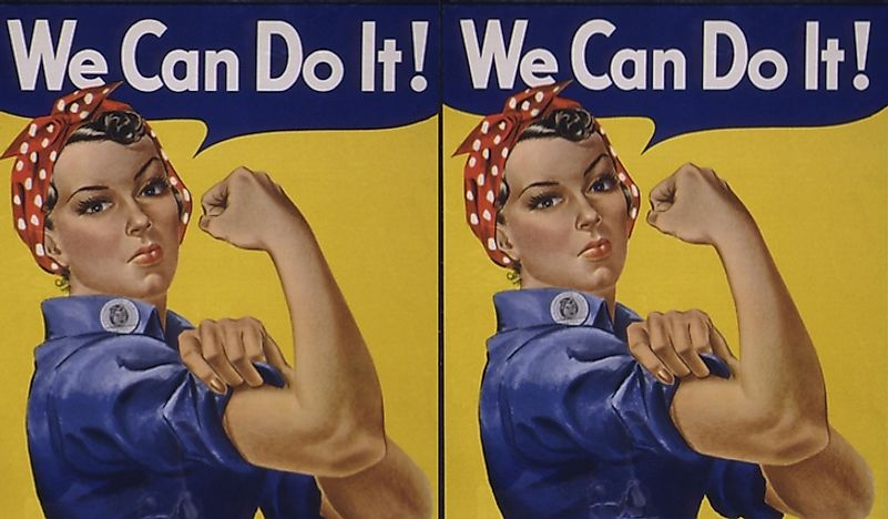 """Rosie the Riveter"" poster."
