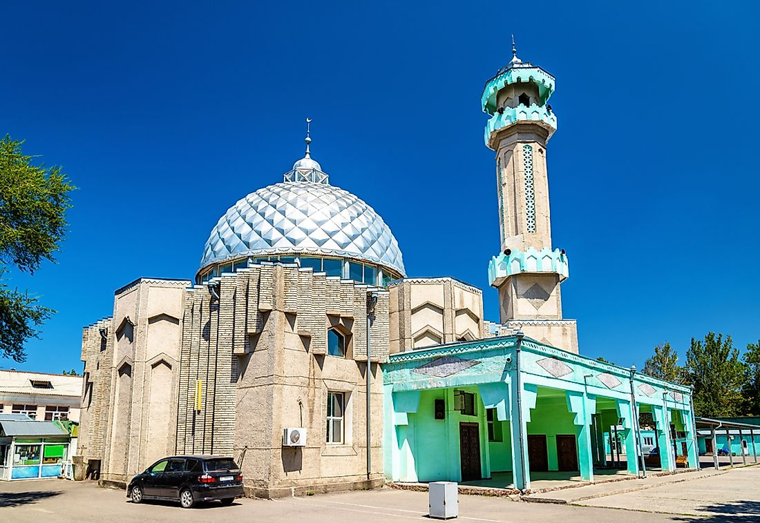 The Central Mosque in Bishkek, the capital of Kyrgyzstan.