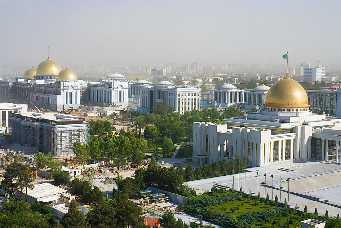 The presidential palace in Ashgabat, Turkmenistan.