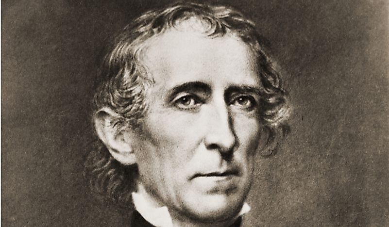John Tyler, the 10th President of the United States.