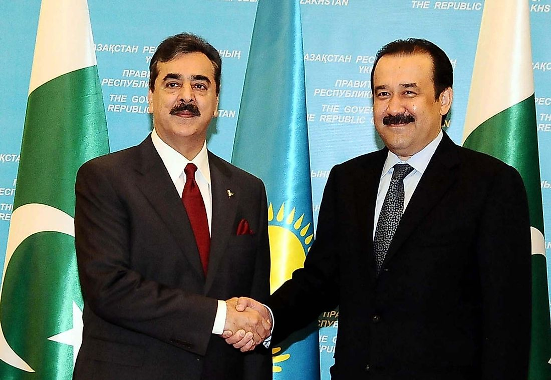 Karim Massimov, former prime minister of Kazakhstan (right). Editorial credit: Asianet-Pakistan / Shutterstock.com.
