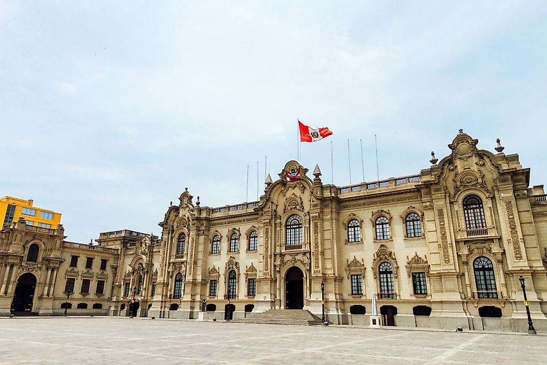 The presidential palace of Peru in Lima.