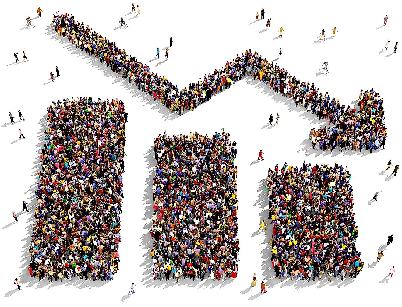 Experts have predicted that by the year 2100, the world population will eventually stabilize and stop increasing in size.