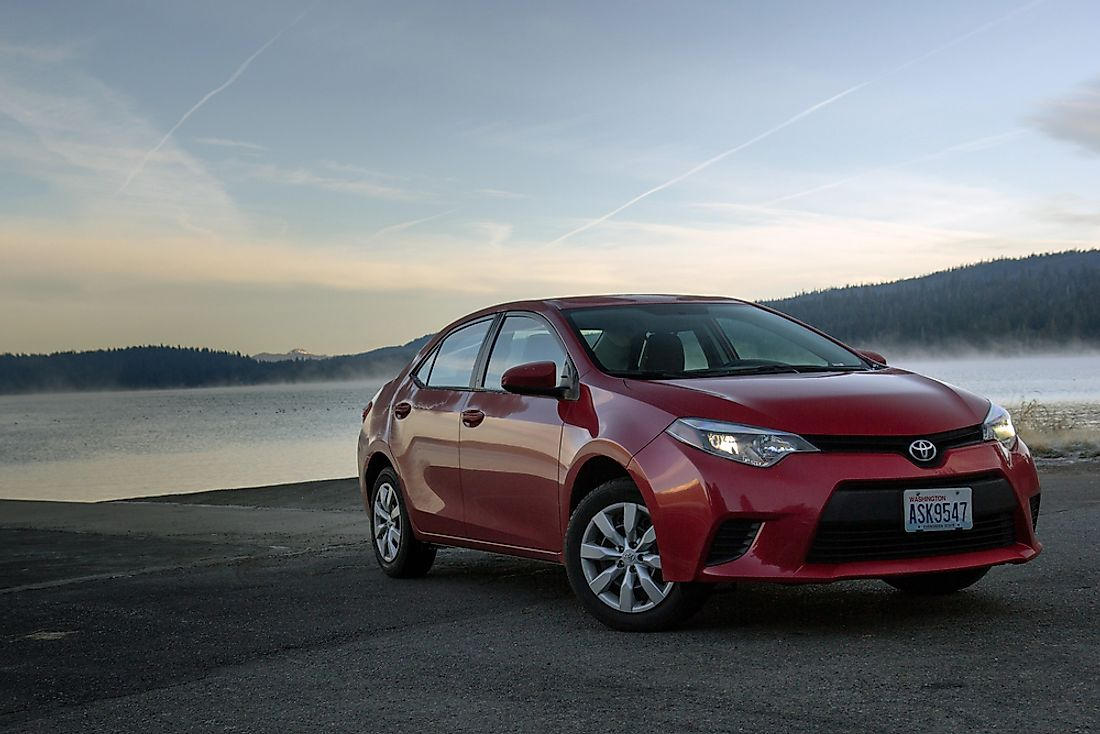 The Toyota corolla is the best selling car in the world. Editorial credit: Roman Korotkov / Shutterstock.com.
