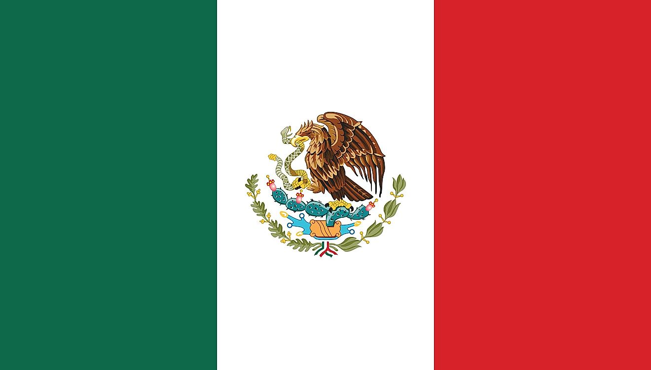 The flag of Mexico.